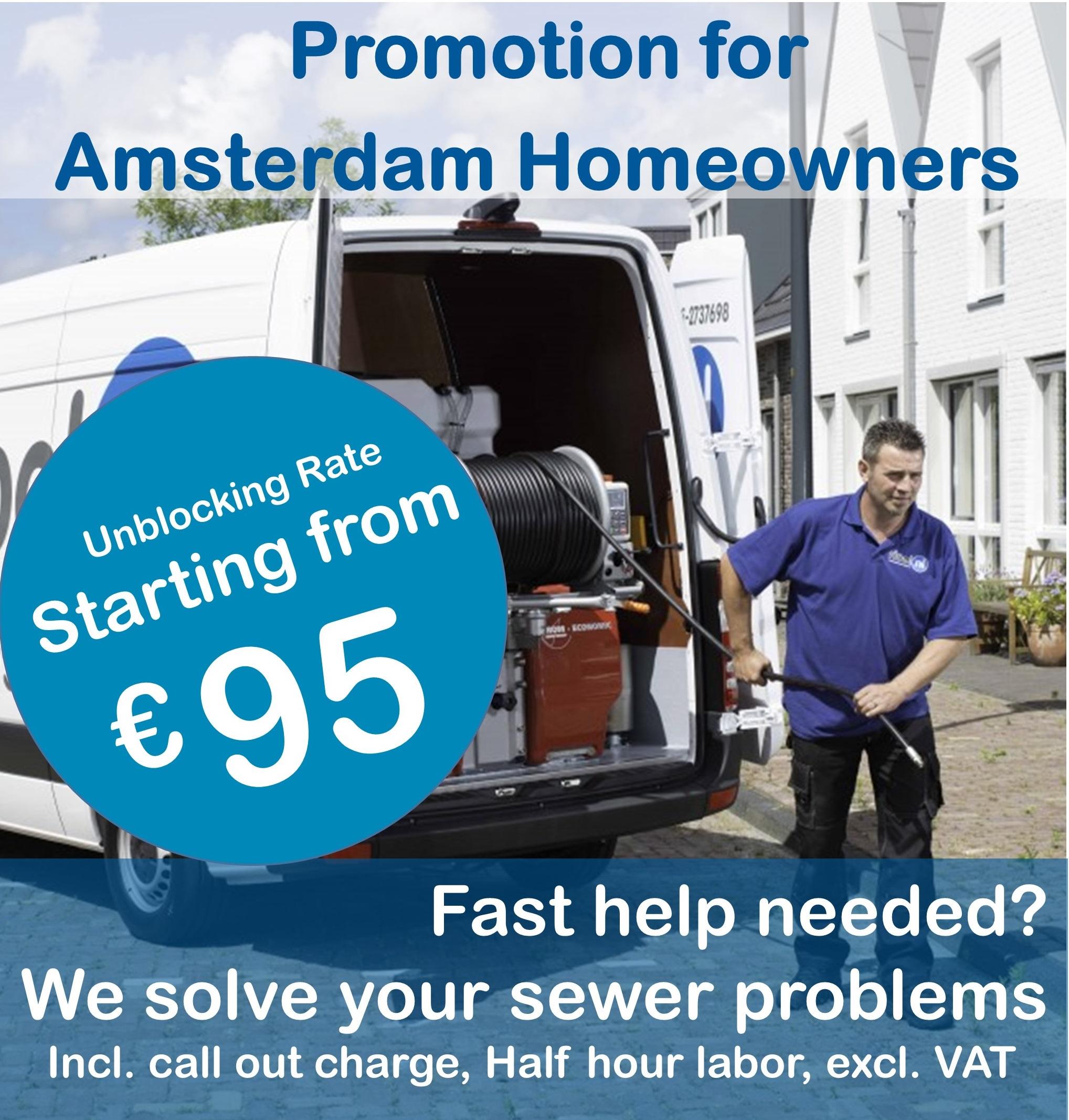 Actietarief riool Amsterdamse regio